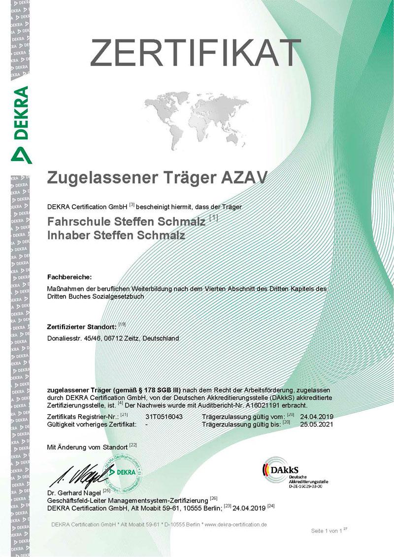 Zertifikat-AZAV-Traeger